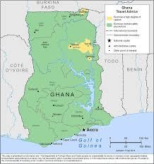 Map Of Ghana Smartraveller Gov Au Ghana