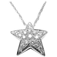 star drop necklace images Chanel comete diamond gold large star pendant necklace at 1stdibs jpg