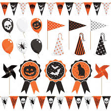 halloween party kits halloween party pack u2014 stock vector mattasbestos 12300881