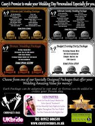 Wedding Packages Prices Room Hire Prices Casey U0027s Cordingley Hall Telford Event And