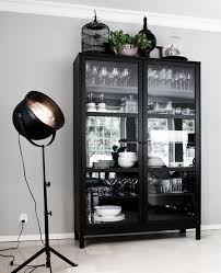 Black Glass Cabinet Doors Black Ikea Glass Sideboard Cabinet Photography By Witte