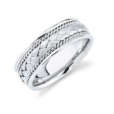 s gold wedding bands white gold wedding band weave look s wedding bands