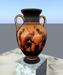 Greek Vase Images Second Life Marketplace Amphora Black Figure Vase Greek Pottery