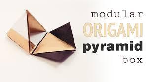 modular origami pyramid gift box tutorial diy youtube