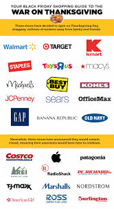 infographic which stores are denying their workers a thanksgiving