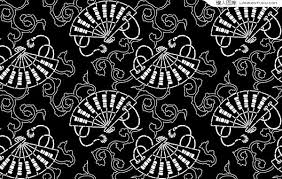 japanese pattern black and white japanese style folding pattern tiled background vector material
