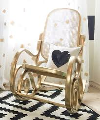 Black Rocking Chair For Nursery Black White And Gold Nursery Vintage Rocking Chair Rocking