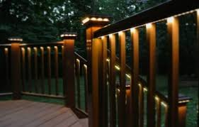 solar deck accent lights lighting ideas deck railing lighting and deck step lighting with