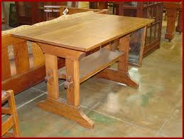 Gustav Stickley Desk Voorhees Craftsman Mission Oak Furniture Gustav Stickley Trestle