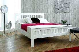 White Wood King Bed Frame Bed Frames White Hoodsie Co