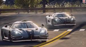 blue koenigsegg one 1 koenigsegg one 1 gets sideways in need for speed rivals trailer video