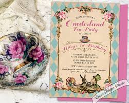 1st birthday tea party invitations stephenanuno com