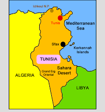 map of tunisia with cities tunisia for