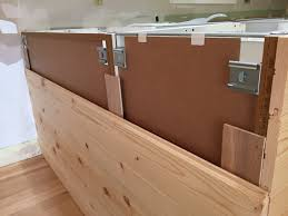 how to install kitchen island base cabinets when it came time to install the base cabinets our
