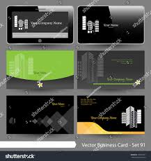 Real Estate Cards Template vector business card template set real stock vector 190537601