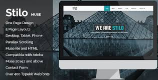 free muse template stilo creative parallax one page muse template themelock com