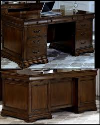 Cherry Wood Desk Commercial Interiors Executive Desk For Sale