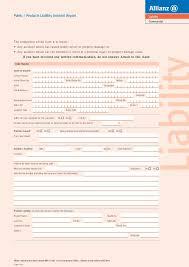 allianz liability incident report form