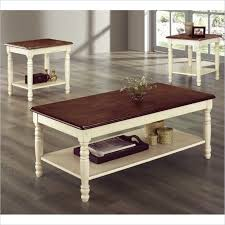 coffee table end table set ohana 3 piece occasional table set 2 colors by homelegance