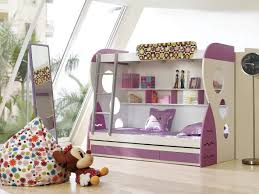 Purple Bunk Beds White Purple Bunk Bed And White Wooden Shelf With Grey Ladder Plus