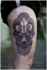 15 lovely aries tattoos on thigh