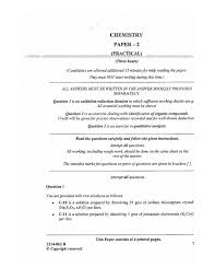 isc 2014 chemistry practical class xii board question paper 10