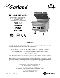 mwe3w mwg3w service manual