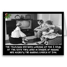 funny christmas card with a funny old television theme funny
