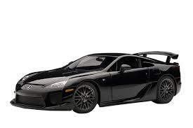 lexus diecast models amazon com autoart 1 18 lexus lfa nurburgring package black