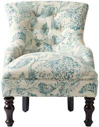 Ivory Accent Chair Elaine Blue And Ivory Accent Chair