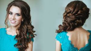 prom hairstyles side curls side swept curls wedding prom hairstyles tutorial youtube side