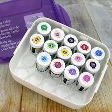 wilton icing color organizer plus 14 paste colours