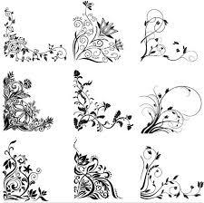 floral ornament corners vector ai format free vector