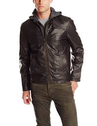 brown leather motorcycle jacket levi u0027s men u0027s faux leather hooded motorcycle jacket ebay