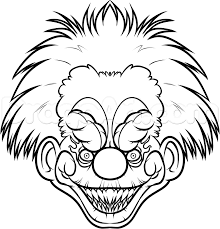how to draw a killer klown step by step aliens sci fi free