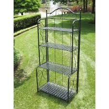 Storage Bakers Rack Tips Decorative Outdoor Bakers Rack For Indoor And Outdoor Use