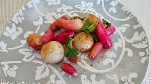 cuisiner navets nouveaux radis et navets nouveaux poêlés au miel et à la coriandre recette