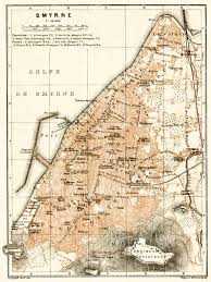 smyrna map map of smyrna izmir in 1905 buy vintage map replica poster