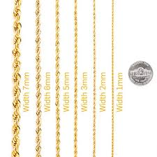 gold chain necklace rope images Lifetime jewelry 3mm rope chain 24k gold with inlaid bronze jpg
