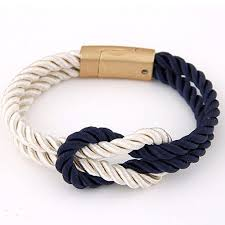 chain bracelet with leather images Braided rope chain bracelet magnetic clasp bowknot leather jpg