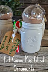 cocoa mix ornaments holiday gift idea chocolate gifts