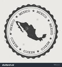 Mexico States Map by United Mexican States Hipster Round Rubber Stamp With Mexico Map