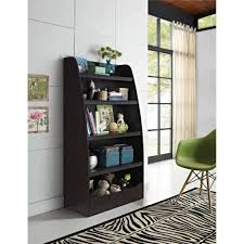 bookshelf with storage bins espresso u2022 storage bins