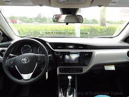toyota corolla 2017 interior 2017 used toyota corolla le cvt automatic at royal palm toyota