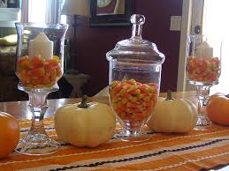 examplary everyday table decor room table decor also room fall gorgeous glass jars centerpieces decorating small party room home decor home with some pumpkins colorful candies