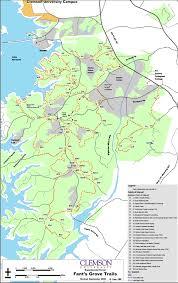 Clemson University Map Fants Grove Trails Trailmeister