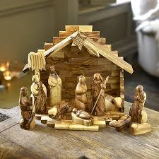 wooden nativity set 12 olive wood christmas nativity gift set co uk