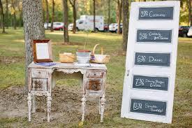 Chalkboard Wedding Programs Vintage Door Chalkboard Wedding Programs