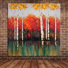 compare prices on white birch tree oil painting online shopping