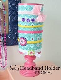 diy headband holder baby headband holders oatmeal canister and